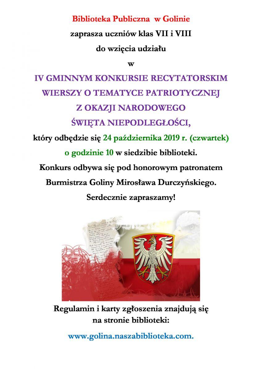 Konkursy Literackie Biblioteka Publiczna W Golinie
